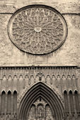 Barcelona - facade of gothic church Santa Maria del Pi — Stock fotografie
