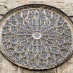 Barcelona - rosette of gothic church Santa Maria del Pi — Stock Photo #39750847