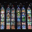 Windowpane from Notre-Dame cathedral in Paris — Stock Photo #39756417