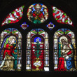Window-pane from Paris church - st. Eustache- Annunciation — Stock Photo #39756881