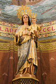 Holy Mary - Barcelona - interior of church Sagrad cor de Jesus on Tibidabo — Stock Photo