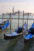 Venice - gondolas and San Giorgio di Magiore church — 图库照片