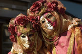 Pair in mask from venice carnival — Stockfoto