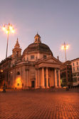 Rome - Santa Maria del Popolo - morning — Stock Photo