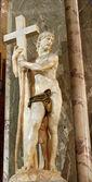 Roma, mart - 23: santa maria sopra i̇sa heykelinin minerva kilisede michelangelo tarafından. 23 mart 2012, roma, i̇talya — Stok fotoğraf