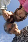 Grandmother and grandchild - keeping — Stock Photo