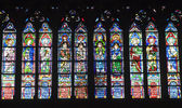 Windowpane from Notre-Dame cathedral in Paris — Stock Photo