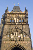 Prague - gothic tower of Charles bridge — Stock Photo