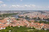 Prag - look från outlook-tower — Stockfoto