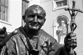 Pope John Paul II statue from Trnava - Slovakia — Stock Photo