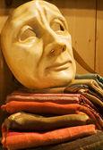 Venice - mask and textile — Stock fotografie