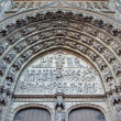 ANTWERP, BELGIUM - SEPTEMBER 5: Relief of Last judgment on the main portal on the cathedral of Our Lady on September 5, 2013 in Antwerp, Belgium — ストック写真