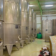Stock Photo: BRATISLAVA, SLOVAKI- JANUARY 30, 2014: Indoor of wine manufacturer great Slovak producer. Modern big cask for fermentation.