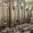 Indoor of wine manfactutre of great Slovak producer. Modern big cask for the fermentation. — Stock Photo