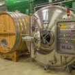 Stock Photo: BRATISLAVA, SLOVAKI- JANUARY 30, 2014: Indoor of wine manufactory of great Slovak producer. Modern engine for fermentation.