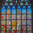 Stock Photo: ANTWERP, BELGIUM - SEPTEMBER 5: Windowpane from cathedral of Our Lady on September 5, 2013 in Antwerp, Belgium