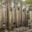 Stock Photo: BRATISLAVA, SLOVAKI- JANUARY 30, 2014: Indoor of wine manufactury of great Slovak producer. Modern big cask for fermentation.