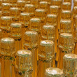 BRATISLAVA, SLOVAKIA - JANUARY 30, 2014: Detail of champagne bottles. Interior of wine plant of great Slovak producer. — Stock Photo