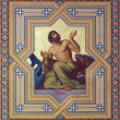 Stock Photo: VIENNA, AUSTRI- JULY 27, 2013: Fresco of prophet Jonah by Carl Mayer from 19. cent. in Altlerchenfelder church.