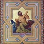 Постер, плакат: VIENNA AUSTRIA JULY 27 2013: Fresco of prophet Jonah by Carl Mayer from 19 cent in Altlerchenfelder church