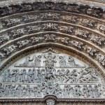 安特卫普,比利时-9 月 5 日: 最后审判上的圣母大教堂的主要门户在 2013 年 9 月 5 日在比利时安特卫普的救济 — 图库照片 #40568199