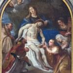 Постер, плакат: LEUVEN BELGIUM SEPTEMBER 3: Paint of Pieta in Sint jan de Doperkerk on September 3 2013 in Leuven Belgium