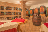 BRATISLAVA, SLOVAKIA - JANUARY 30, 2014: Interior of wine cellar of great Slovak producer. — Foto Stock