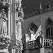 Leuven - Detail of gothic town hall and st. Peters cathedral in morning light — Stock Photo #40570541