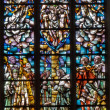 ANTWERP, BELGIUM - SEPTEMBER 6: Modern windowpane of Holy Trinity in Saint Willibrordus church on September 6, 2013 in Antwerp, Belgium — Stock Photo #40570759