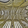 Постер, плакат: BRATISLAVA SLOVAKIA FEBRUARY 5 2014: Gothic ceiling from St John the Evangelist chapel beside of Franciscan church