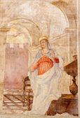 ROME - MARCH 22: Fresco of apostle on the wall of Basilica di Santa Prassede on March 22, 2012 in Rome. — Stock Photo