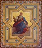 VIENNA, AUSTRIA - JULY 27, 2013: Fresco of Amos prophets by Karl von Blaas from 19. cent. in Altlerchenfelder church. — Stock Photo