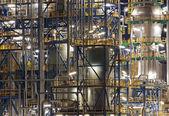 Oil refinery Schwechat in Austria at night — Stock Photo