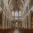 Stock Photo: PARIS, FRANCE - JUNE 17, 2011: interior of Saint Severin gothic church