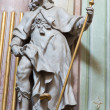 Stock Photo: JASOV, SLOVAKI- JANUARY 2, 2014: Baroque sculpture of Saint Jacob apostle in nave of Premonstratesicloister by Johann Anton Krauss (1728 - 1795).