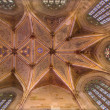 Stock Photo: BRATISLAVA, SLOVAKI- FEBRUARY 11, 2014: Ceiling of presbytery in st. Martin cathedral from 15. cent.