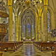 Stock Photo: BRATISLAVA, SLOVAKI- FEBRUARY 11, 2014: Main nave of st. Martin cathedral from 15. cent.