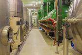 "BRATISLAVA, SLOVAKIA - JANUARY 30, 2014: Indoor of wine manufacturer great Slovak producer ""Matysak"" . Modern big cask for the fermentation. — Stock Photo"