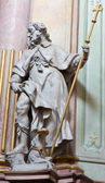 JASOV, SLOVAKIA - JANUARY 2, 2014: Baroque sculpture of Saint Jacob the apostle in nave of Premonstratesian cloister by Johann Anton Krauss (1728 - 1795). — Stock Photo