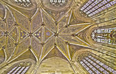 BRATISLAVA, SLOVAKIA - FEBRUARY 11, 2014: Ceiling of presbytery in st. Martin cathedral from 15. cent. — Stock Photo