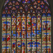 MECHELEN, BELGIUM - SEPTEMBER 6: Scenoe of Jesus life from windowpane of St. Rumbold's cathedral on September 6, 2013 in Mechelen, Belgium. — Stock Photo #40812075