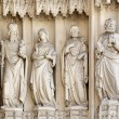 Stock Photo: VIENN- JULY 3: Statue from west portal of gothic church Mariam Gestade on July 3, 2013 in Vienna.