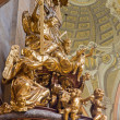 Stock Photo: VIENN- JULY 3: Sculpture of Holy Trinity on pulpit of baroque st. Peter church or Peterskirche on July 3, 2013 Vienna.