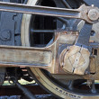Detail of driving rod mechanism on old steam locomotive — Stock Photo #40817263
