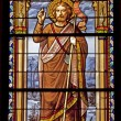 MADRID - MARCH 10: Saint John the Baptist from windowpane of church San Jeronimo el Real on March 10, 2013 in Spain. — Stock Photo
