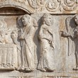 VERONA - JANUARY 27: Presentation of Jesus in the Temple from facade of romanesque Basilica San Zeno. Reliefs is work of the sculptor Nicholaus and his workshop on January 27, 2013 in Verona, Italy. — Stock Photo #40819859