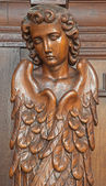 ANTWERP, BELGIUM - SEPTEMBER 6: Carved cherub in Saint Willibrordus church on September 6, 2013 in Antwerp, Belgium — Stock Photo