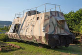 Armoured German wagon form second world war - combat train — Stok fotoğraf
