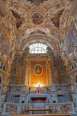 PALERMO - APRIL 8: Side altar of heart of Jesus in church La chiesa del Gesu or Casa Professa. Baroque church was completed in year 1636 on April 8, 2013 in Palermo, Italy. — Stock Photo