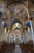 PALERMO - APRIL 8: Main nave from Church of Santa Maria dell' Ammiraglio or La Martorana from 12. cent. on April 8, 2013 in Palermo, Italy. — Stock Photo